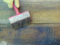 Pintando a placa velha n foto de stock