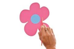 Pintando uma flor Imagem de Stock Royalty Free