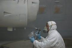 Pintar (con vaporizador) el motor Foto de archivo