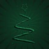 Pinte a árvore de Natal Ilustração Stock