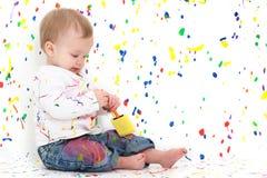 Pinte al bebé fotografía de archivo