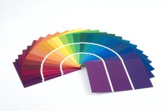 Pinte amostras Foto de Stock