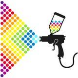Pinte a arma de pulverizador Imagens de Stock