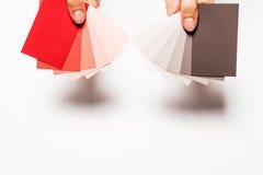 Pinte cartões da amostra Imagens de Stock