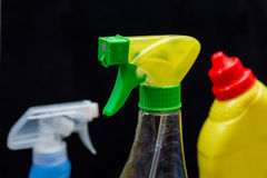 Pinte (con vaporizador) la botella Imágenes de archivo libres de regalías
