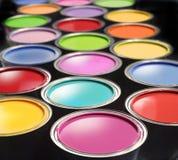 Pinte cubetas Imagem de Stock
