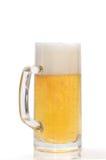 Pinte de bière sur un blanc Photo libre de droits