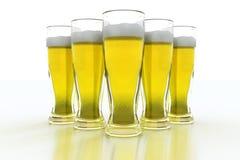 Pinte di birra Immagini Stock Libere da Diritti