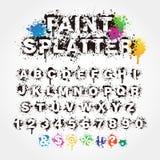 Pinte el alfabeto de la salpicadura stock de ilustración