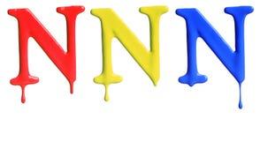 Pinte el alfabeto del goteo Imágenes de archivo libres de regalías