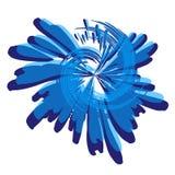 Pinte el azul espiral de la salpicadura ilustración del vector