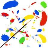 Pinte el chapoteo stock de ilustración