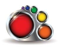 Pinte el copyspace del botón del modelo del vector de la gama de colores stock de ilustración