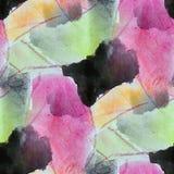 Pinte el extracto púrpura, rojo, verde colorido de la textura del agua del modelo Foto de archivo libre de regalías
