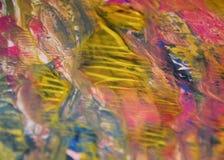 Pinte el fondo en colores rosados de oro, fondo colorido de la acuarela de las tonalidades imágenes de archivo libres de regalías