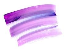 Pinte el fondo púrpura de la acuarela del fondo abstracto Imagen de archivo libre de regalías