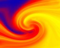 Pinte el fuego del remolino ilustración del vector