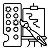 Pinte el icono de la paleta libre illustration