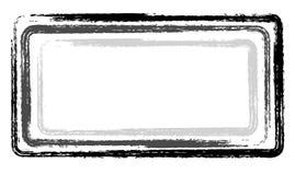 Pinte el negro gris de las etiquetas del huésped del marco de los movimientos Fotos de archivo