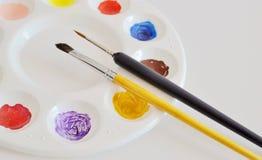 Pinte el pigmento Fotos de archivo libres de regalías