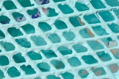Pinte el rodillo de rejilla del cubo Chip Brush Foto de archivo