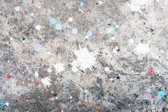 Pinte el splat el color blanco y azul imagen de archivo libre de regalías