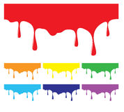Pinte elementos coloridos de gotejamento do projeto Imagens de Stock