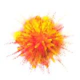 Pinte a explosão da cor do pó no fundo preto Fotos de Stock