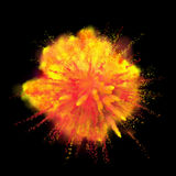 Pinte a explosão da cor do pó no fundo preto Foto de Stock
