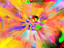 Pinte a explosão do Splatter Fotos de Stock
