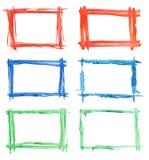 Pinte frames ilustração royalty free