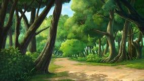 Pinte ilustrações no selvagem e natural ilustração do vetor