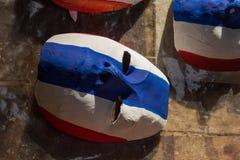 pinte la bandera tailandesa de la máscara Foto de archivo libre de regalías