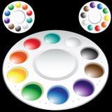Pinte la gama de colores Fotos de archivo libres de regalías