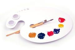Pinte la gama de colores Imágenes de archivo libres de regalías