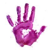 Pinte la impresión de la mano humana Foto de archivo libre de regalías