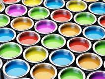 Pinte la paleta de colores de las latas stock de ilustración