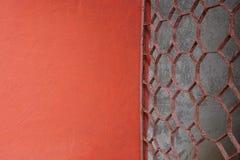 Pinte la pared con el acero curvado Imagenes de archivo