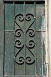 Pinte la puerta oxidada manchada Fotos de archivo libres de regalías