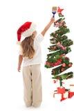 Pinte la su Navidad en luces mágicas Fotos de archivo