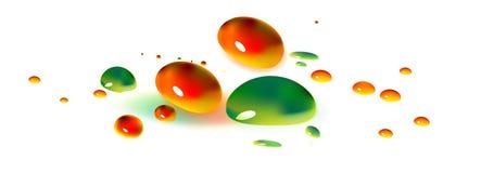 Pinte las gotas stock de ilustración