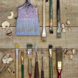Pinte las herramientas Foto de archivo libre de regalías