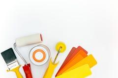 Pinte las herramientas y los accesorios para la renovación casera Fotos de archivo libres de regalías