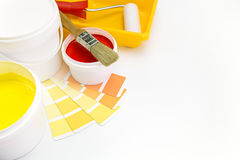 Pinte las herramientas y los accesorios para la renovación casera Imágenes de archivo libres de regalías