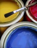 Pinte las latas Imagenes de archivo
