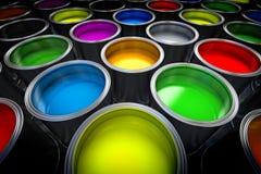 Pinte las latas Imágenes de archivo libres de regalías