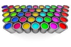 Pinte las latas Imagen de archivo libre de regalías