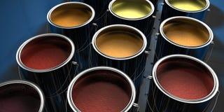 Pinte las latas Fotografía de archivo