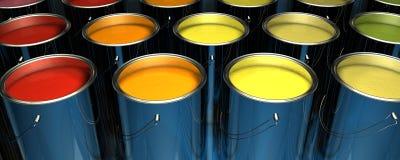 Pinte las latas Fotografía de archivo libre de regalías