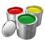 Pinte las latas aisladas Imágenes de archivo libres de regalías